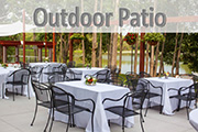 Outdoor Riverside Patio at Celebrations on the River La Crosse, WI