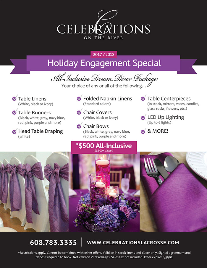Dream Decor Package at Celebrations on the River