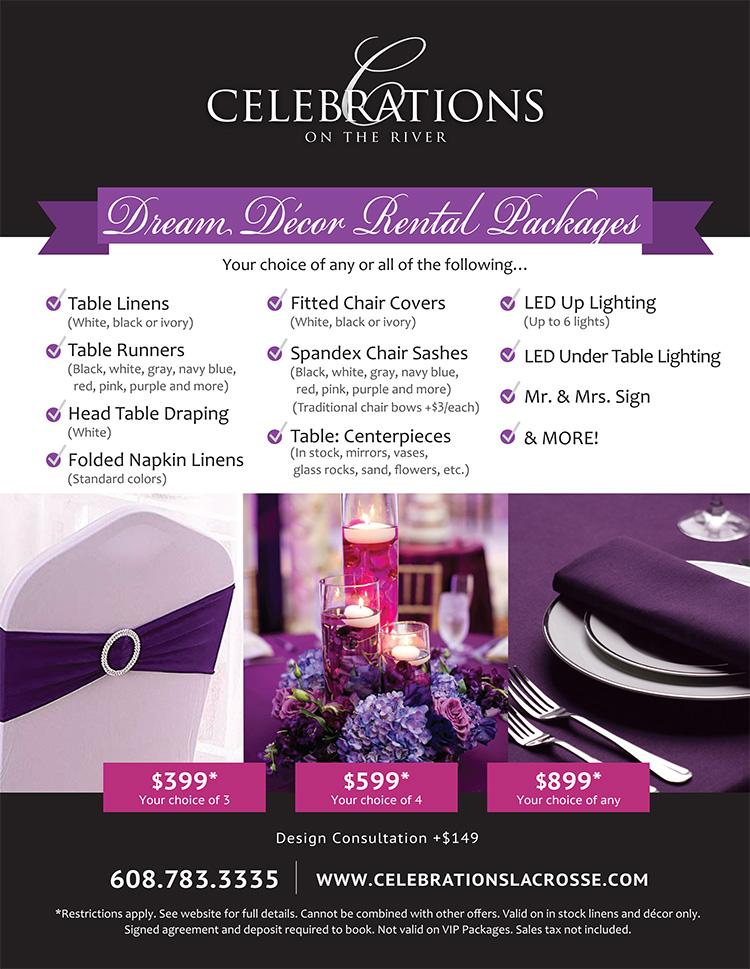 Dream Decor Packages for Weddings at Celebrations